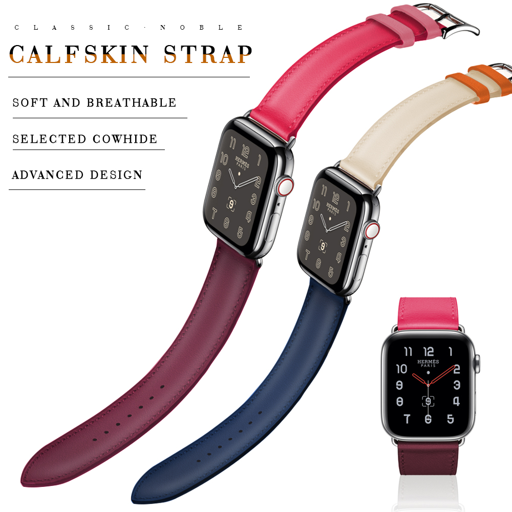 Band For Apple Watch 5/4/3/2/1 Sport Bracelet 42 Mm 38 Mm Leather Strap For Apple Watch Bands Iwatch Series 5 4