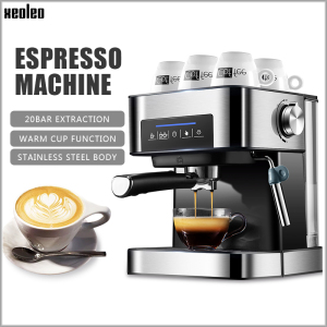XEOLEO Espresso machine 20Bar Coffee maker Espresso coffee machine Automatic cafe espresso maker Cappuccino 850W
