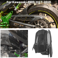 Carbon Rear Wheel Mudguard For Kawasaki Z900 Fender Hugger Fairing with Chain Guard Cover 2017 2018 2019 Z 900 Accessories Moto