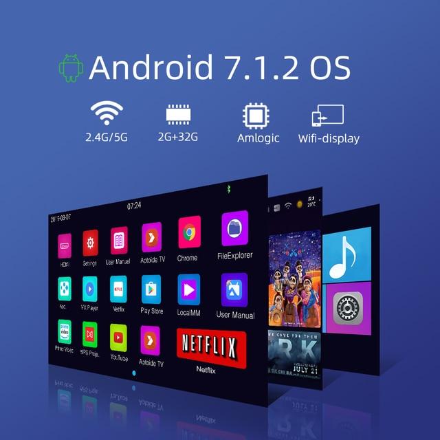 BYINTEK Mini Projector U20 Pro, Android Smart Wifi Beamer, Portable LED DLP Proyector 4