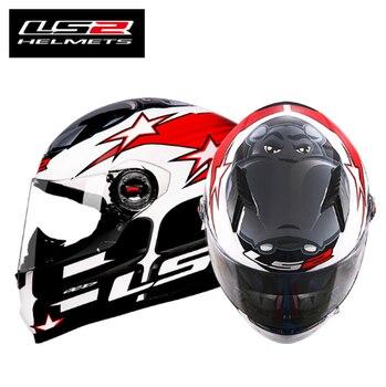 LS2 FF358 Full Face motorcycle helmet Wit Men Women Racing Capacetes ls2 Casco Moto Capacetes de Motociclista фото