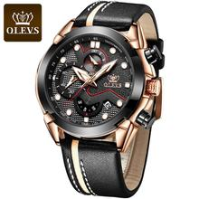 Mens Watches Top Brand Luxury Quartz Watches For Men Sports Blue Chronograph Waterproof Business Wrist Watches cheap OLEVS 24cm 3Bar Buckle Stainless Steel 14mm Coated Glass Quartz Wristwatches Paper Leather 48mm 9003 24mm ROUND luminous