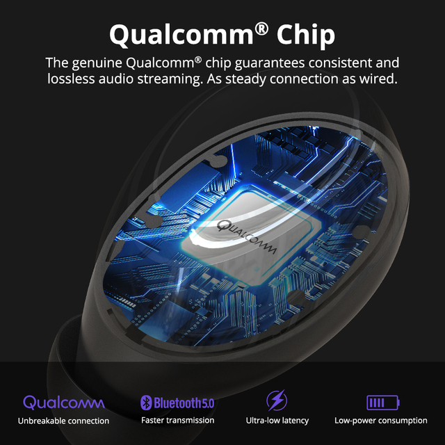 [Newest Version] Tronsmart Onyx Neo TWS Bluetooth Earphone Wireless Earbuds with Qualcomm Chip, aptX, Volume Control 2