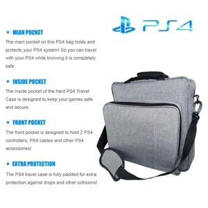 Image 3 - NEW Handbag for PS4/PS4 PRO slim Original size Protect Shoulder Carry Canvas Case for PlayStation 4 Consol Multifunction Bag