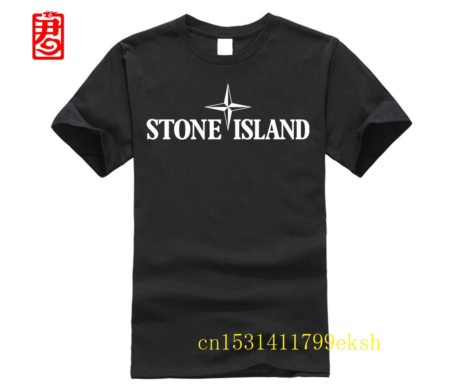 Stone Men Black S - 3Xl  Men T-Shirt Cotton TEE Shirt Custom Screen Printed Men Tee T Shirt Short Sleeve O-Neck Island TEE