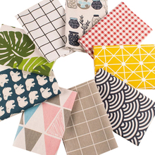 100*150cm cotton and linen fabric clothes instagram background cloth for DIY fabric with pattern patchwork cloth bag DIY cloth