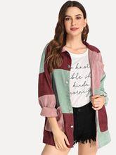 Женские куртки Новая цветная Вельветовая свободная и Тонкая