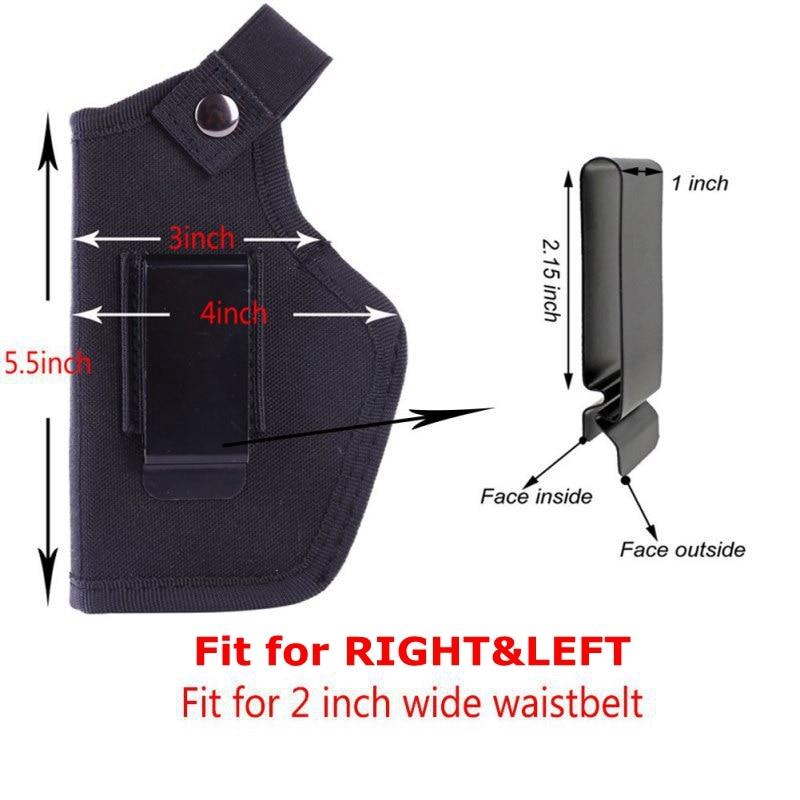 Pistola de cintura derecha e izquierda ajustable para Glock 17/USP/SP2022/SIG IBW funda para ocultar pistola, funda para Airsoft Hunting