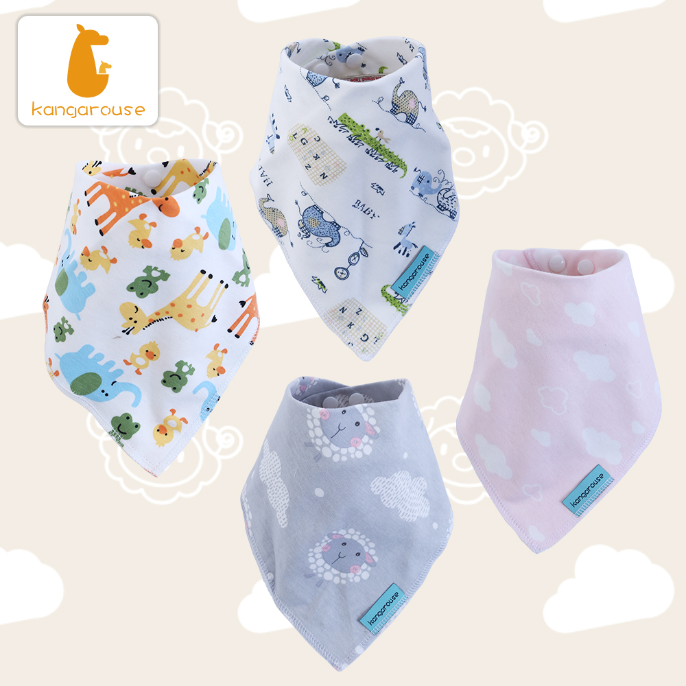 Kangarouse Cotton Bandana Bibs Baby Babador Infant Burp Cloths  Saliva Towel Baby Eating AccessoryBibs & Burp Cloths   -