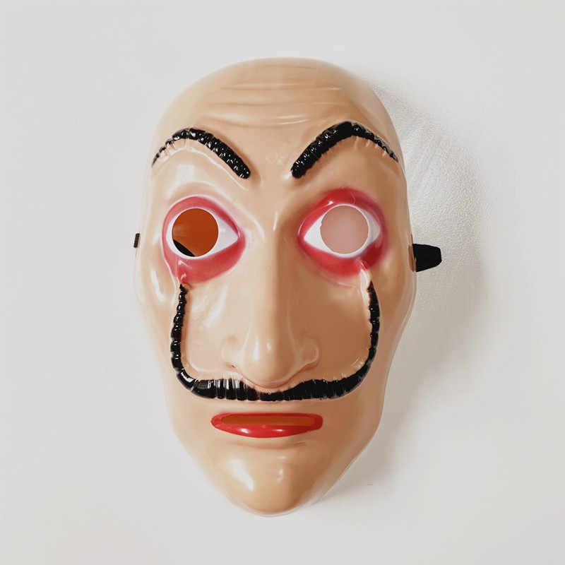 Karnaval parti komedi ana La Casa De Papel Dali Cosplay maske cadılar bayramı Masquerade kağıt ev komik aksesuarları