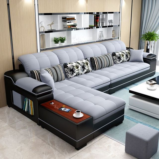 L Shaped Living Room Sofa Chaise  2