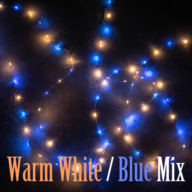 Blue Warm White Mix