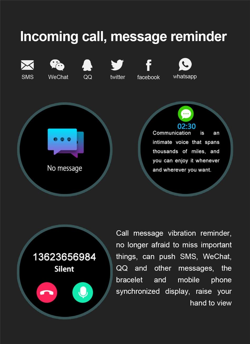Hcb2de305260a4ca48d166ec7676681cee LIGE 2020 New Smart Watch Men Heart Rate Blood Pressure Information Reminder Sport Waterproof Smart Watch for Android IOS Phone