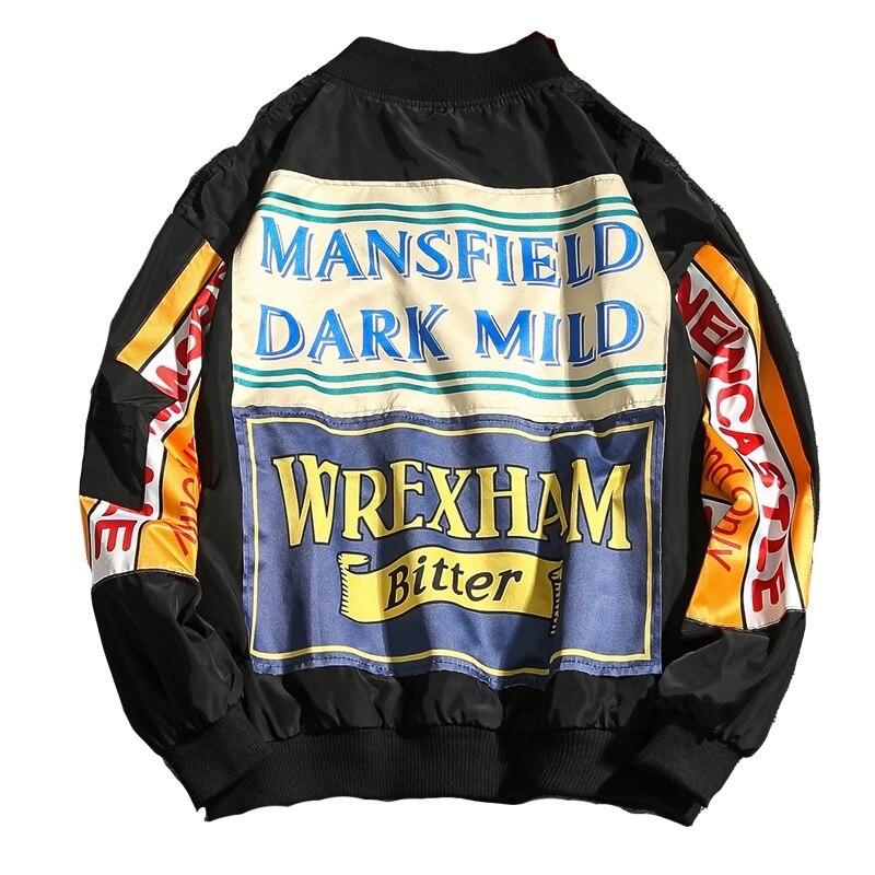 Модный тренд мужской модный пиджак 2019 весенне-осеннее украшение с буквами Мужская Уличная Повседневная мужская одежда пальто