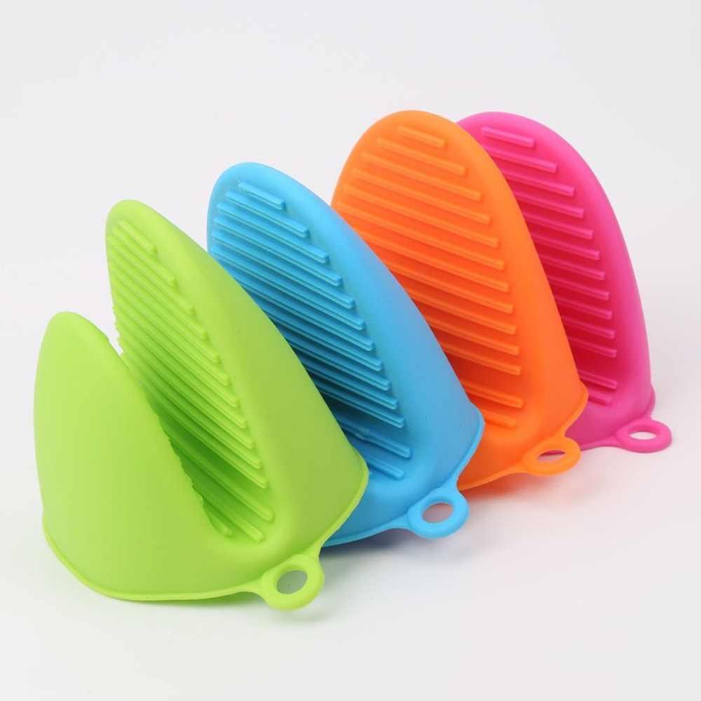 Guantes de silicona antiescaldado para horno manoplas para cocina, guantes para barbacoa, bandeja, recipiente para plato, soporte para horno, pasador de mano