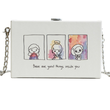 lady New student personality cute fashion small bag female 2019 new design summer chain Messenger box handbag shoulder