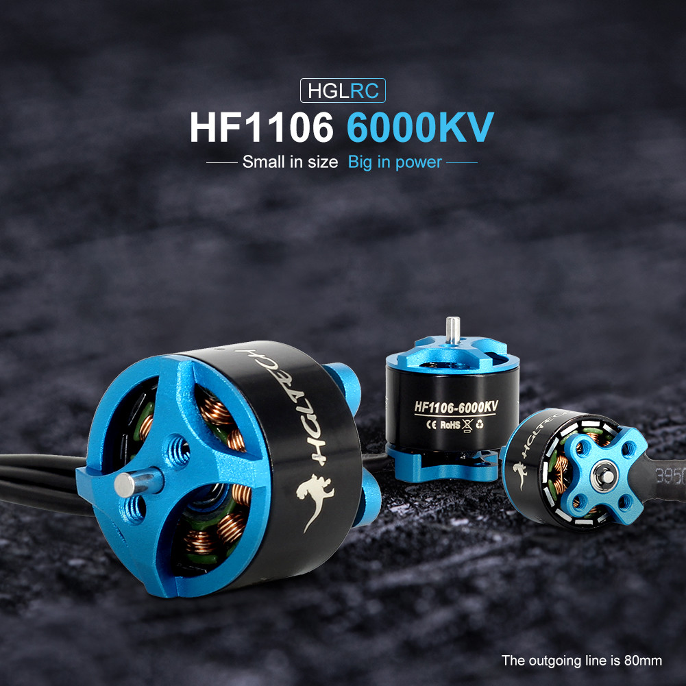 HGLRC FLAME HF1106 6000KV Brushless Motor For FPV Racing Drone Y104|Parts & Accessories|   - AliExpress