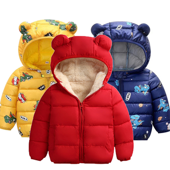 Kids Jacket Autumn Winter Warm Jacket For Girls Hooded Baby Boys Jacket For Baby Clothes Windbreaker Children Clothes 1 5 6 Year cartoon baby children boys girls winter warm down jacket suit set thick coat jumpsuit baby clothes set kids jacket animal