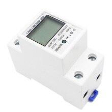 Топ 5-80A DDM15SC ЖК-дисплей цифровой Дисплей однофазный din-рейку электронный счетчик энергии кВтч метр 220 V/230 V 50/60Hz
