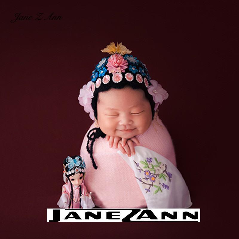 Jane Z Ann Chinese style Newborn baby Peking Opera Huadan Theme Photography props studio shooting creative costume 1