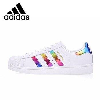 цена на Original Authentic Adidas SUPERSTAR Shamrock Neutral Skateboarding Shoes Men and Women Casual Sneakers Lightweight Cozy BB2146