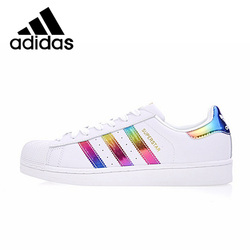 Original Authentic Adidas SUPERSTAR Shamrock Neutral Skateboarding Shoes Men and Women Casual Sneakers Lightweight Cozy BB2146