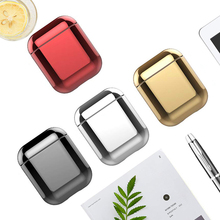 Plating PC case for Apple Airpods accessories earphone cases 2 cover airpod 1:1 airpods2 air pod protective coque