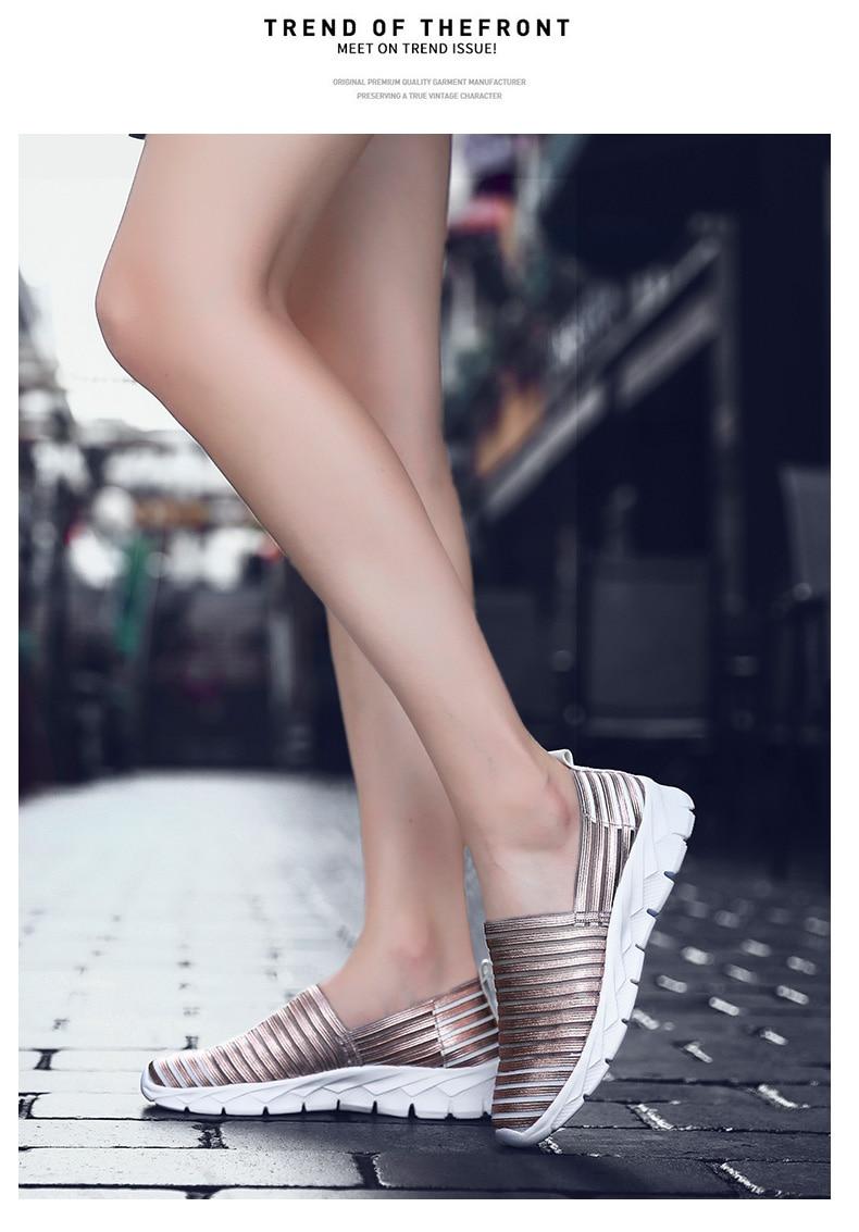 Women Flats Shoes Woman Loafers Slip-ons Platform Ballet Sneakers (4)
