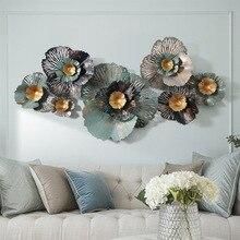 3D Europe Luxury iron wall decor for living room Creative wall handmade metal hanging decoration habitacion iron flowers decor