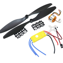 A2212 1000KV Brushless Outrunner Motor +30A ESC+1045 Propeller(1 pair) Quad-Rotor Set for RC Aircraft Multicopter +free shipping jmt rc hexacopter aircraft electronic kit 700kv brushless motor 30a esc 1255 propeller gps apm2 8 flight control diy drone