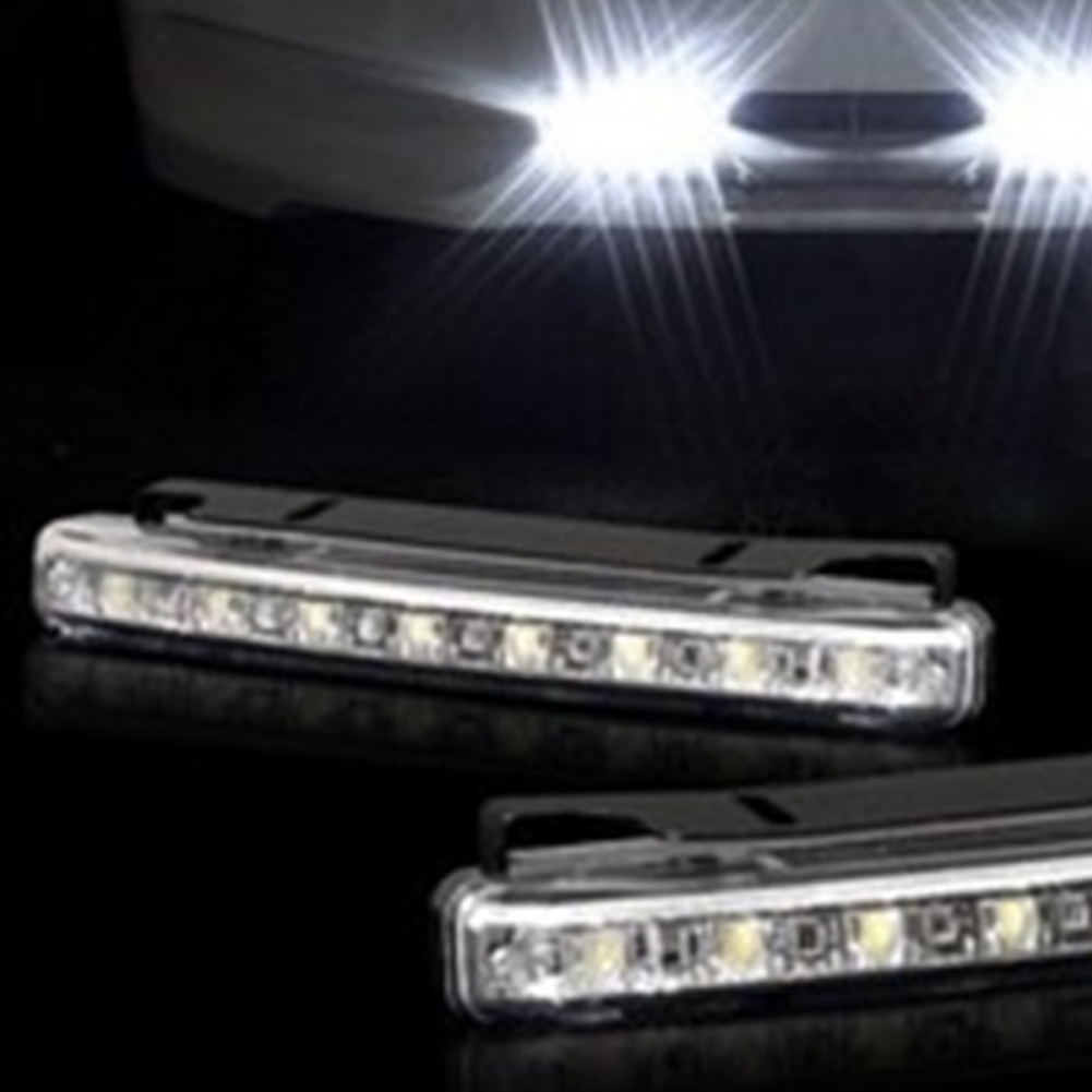 Replacement Part External Styling Auxiliary Auto Universal Fog Super Bright Daytime Running 8LED Waterproof Car Light