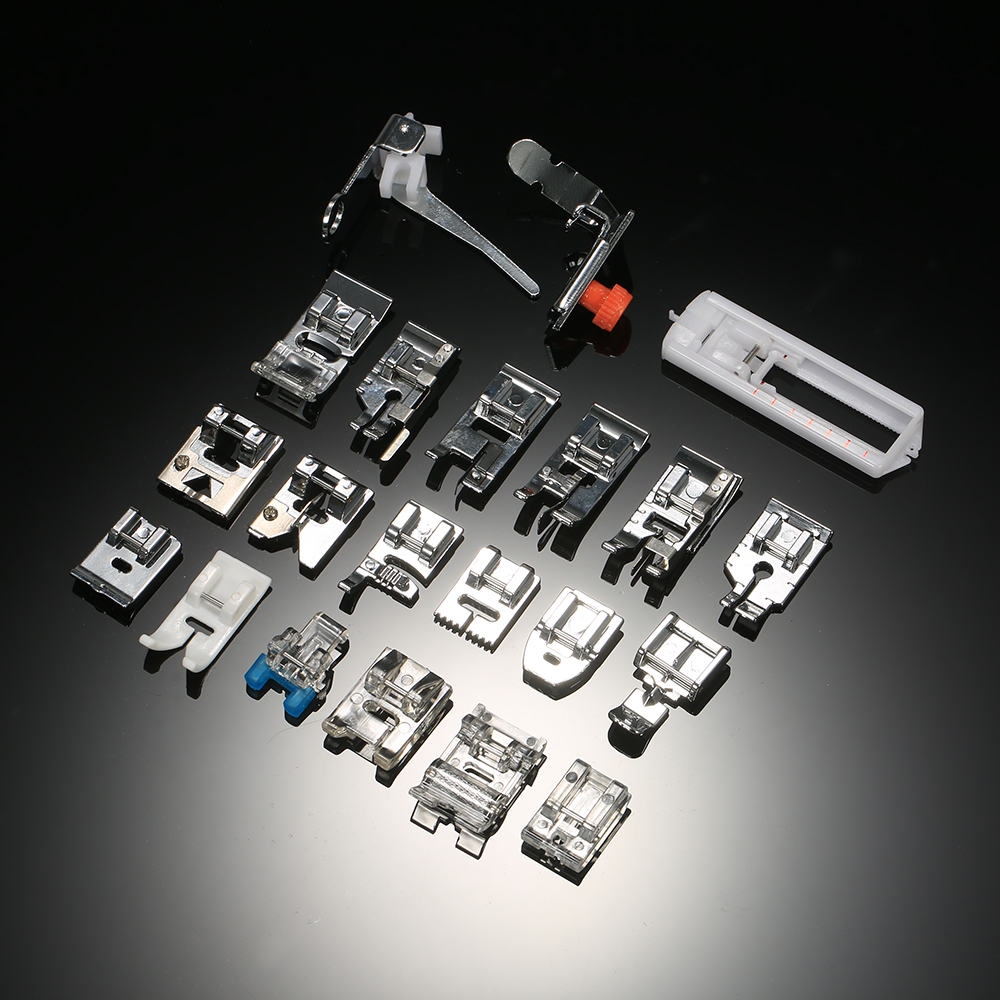 Hot 42pcs Domestic Presser Foot Sewing Machine Parts Accessories with Plastic Box for Professional Low Shank Sewing Machines