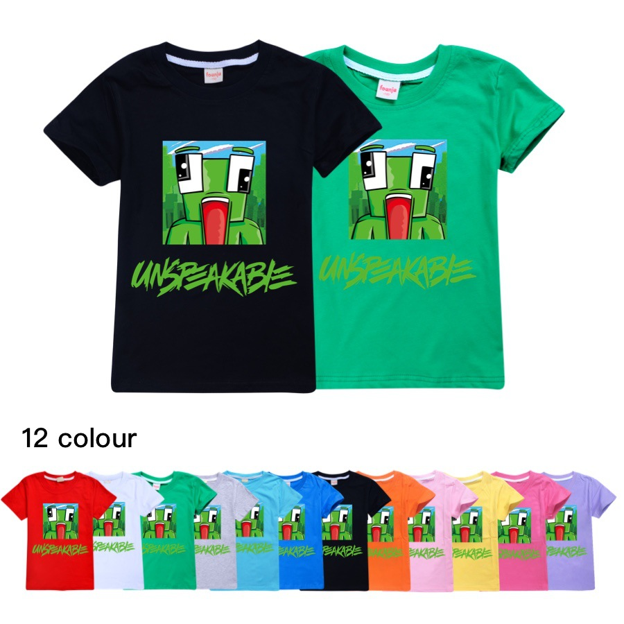 Unspeakable t shirt Morgz Youtuber baby boys youtube lovers vlog letter girls Cotton Clothing boys Clothes Kids christmas shirt 1