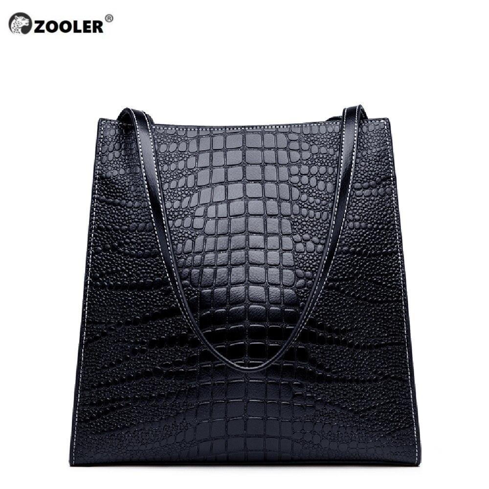 ZOOLER 2019 Lluxury oryginalne torby skórzane torebki kobiet torby moda na ramię z prawdziwej skóry torba wysokiej jakości Bolsa Feminina # M506 w Torebki na ramię od Bagaże i torby na  Grupa 1