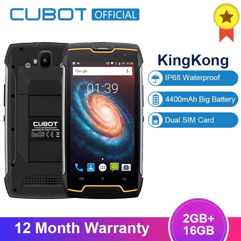 "Cubot KingKong 4400mAh IP68 Waterproof Dustproof Shockproof MT6580 Quad Core 5.0""Android 7.0 Cellular 2G RAM 16G ROM Smartphone(China)"