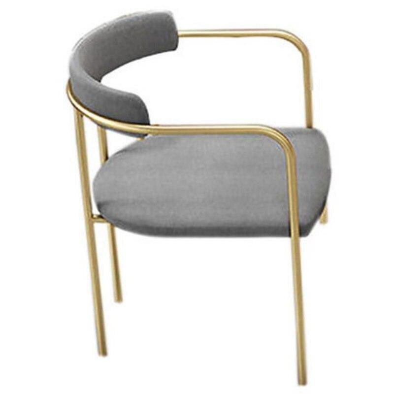 75*45*45 см высококачественное Скандинавское обеденное кресло из кованого железа, стул для конференций, стул с спинкой, стулья для отдыха - Цвет: Светло-серый