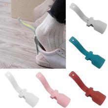 2 szt Gorąca rączka łyżka do butów leniwy pomocnik do butów Unisex łatwe zakładanie i zdejmowanie butów podnoszenie butów pomocnik do butów tanie tanio hoomall RUBBER