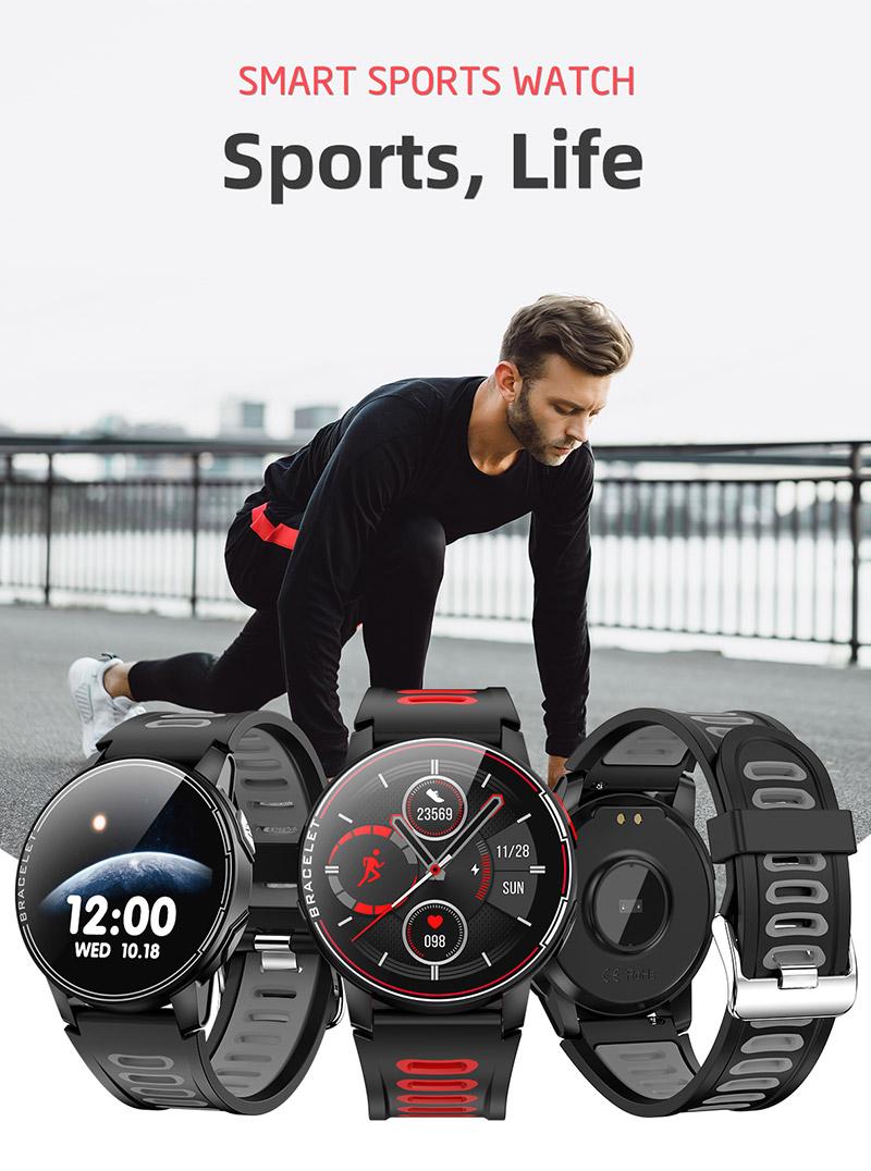 Electronic LED Full Touch Beautiful Men Sport Watch 2021