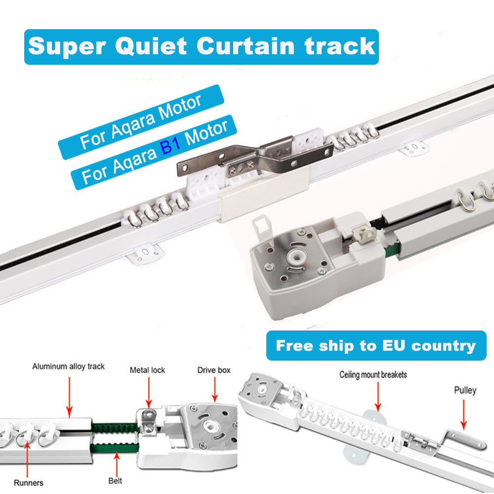 Super Quiet Customizable Electric Curtain Track For Aqara Motor, Super Silent Curtain Rail For Aqara B1 Motor For Smart Curtains