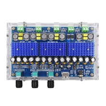 XH A310 Bluetooth 5.0 TPA3116D2 Digital power amplifier board 4 Channel 50Wx2+100Wx2 Dual Bass Subwoofer AMP Module