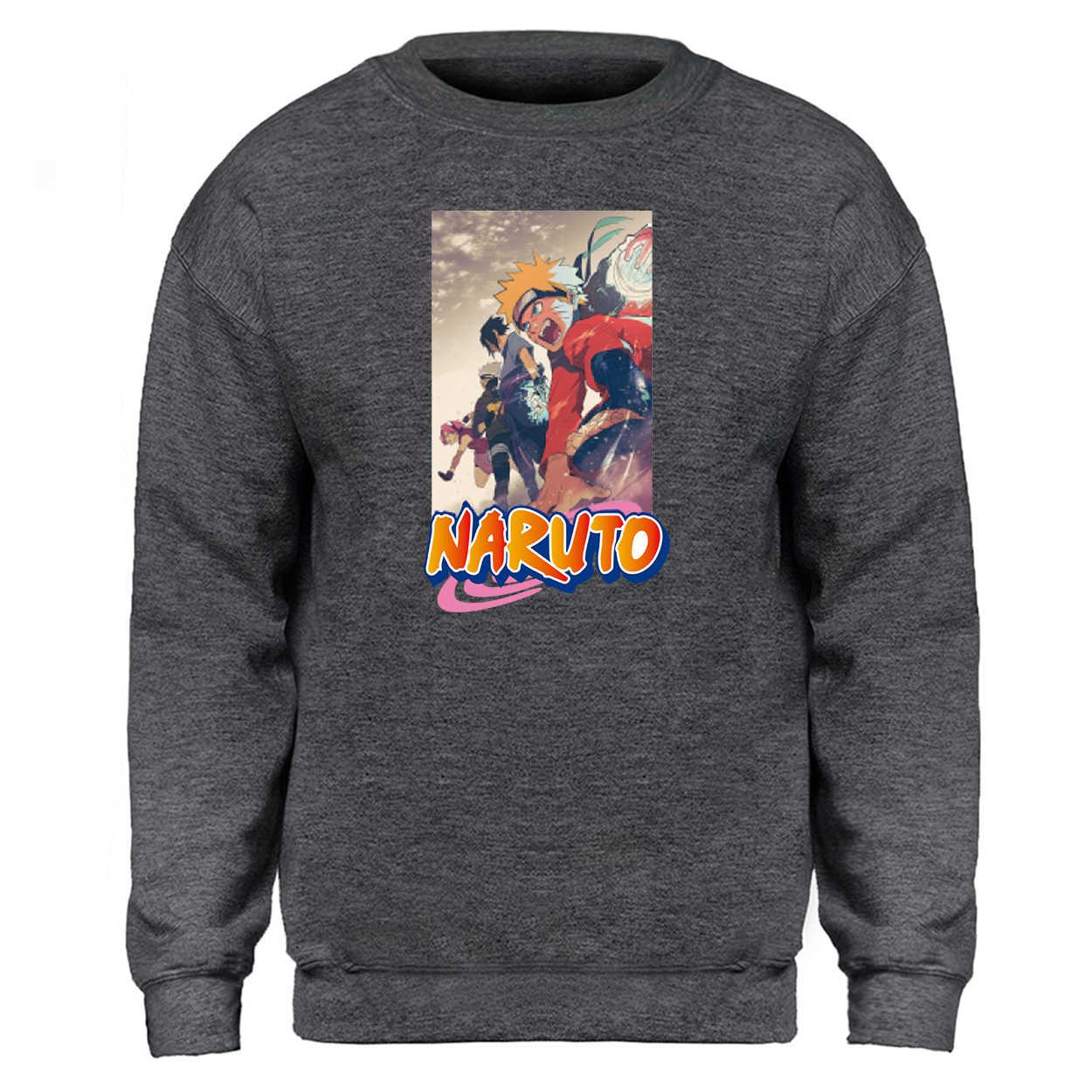 Sudaderas con capucha de naruto Anime japonés Streetwears sudaderas Jersey Tops trajes de lana de Hoodys calle chándal con capucha hombre