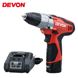 DEVON 12V Electric Screwdriver Cordless Drill Rechargeable Mini Wireless impact Power Driver Toolsl 2-speed 10mm Lithium-Ion