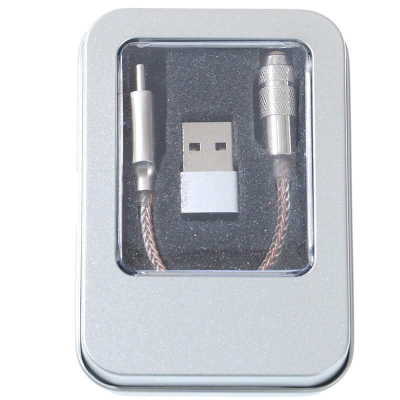 Аудиоадаптер DAC DSD64/3,5 Hi-Fi типа C на 384 мм, 32 бит/128 кГц