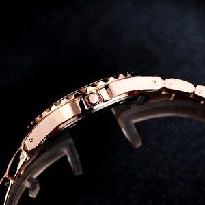 Женские кварцевые часы, модные блестящие повседневные женские часы, женские кварцевые золотые часы с кристаллами и бриллиантами для женщин