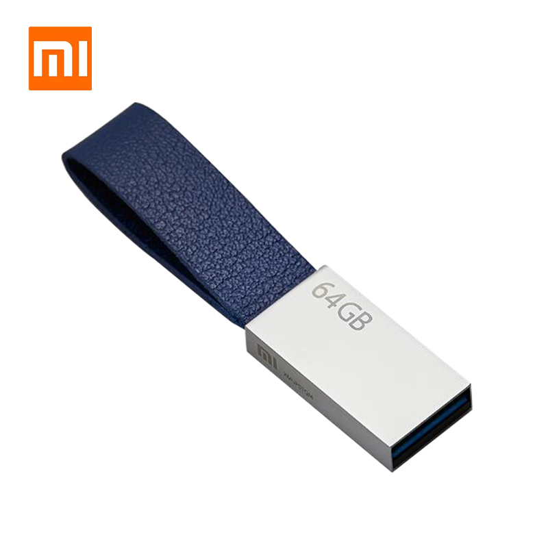 Original Xiaomi U Disk Metal Flash Drive 64GB USB 3.0 High-speed Transmission Metal Body Compact Size Protable Lanyard Design