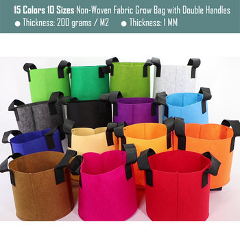 1/2/3/5/7/10/12/15/17/20 Gallon Garden Grow Bags Flower Vegetable Aeration Planting Pot Container Planter Pouch With Handles