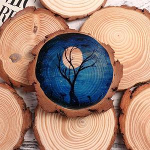Image 3 - WINOMO 10pcs 10 12 ซม.ธรรมชาติไม้แผ่นเข้าสู่ระบบแผ่นที่ยังไม่เสร็จไม้ธรรมชาติรอบชิ้นวงกลมสำหรับ DIY งานฝีมืองานแต่งงาน Decor