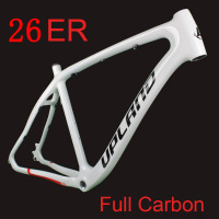 2019 New Carbon 26*20 MTB Bicycle Frame Full Carbon Mountain Bike Frame Set with Frame Hook for Disc Brake