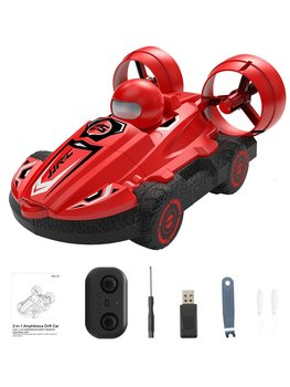 JJR/C Q86 2.4G 2-in-1 Amphibious Drift Car RC Hovercraft Speed Boat RC Stunt Car Toys Gift For Kid Outdoor Models Car 6