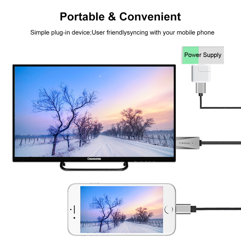 lowest price NEW iOS Phone HDMI Cable HDTV USB AV Adapter Audio Video Conveter Cord for iPhone 5 6 7 8 Plus X XS MAX XR iPad Connect to TV